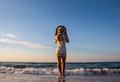 Free Young Woman Standing  In Sea Looking Ahead Royalty Free Stock Photos - 31058718