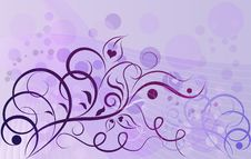 Free Violet Floral Background Stock Photos - 31053493