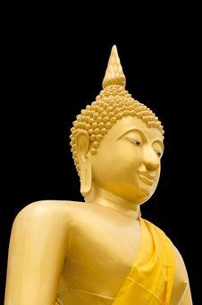 Free Seated Buddha Image On Black Baclground Stock Images - 31053864