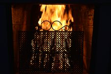 Free Fireplace Royalty Free Stock Photography - 31057267