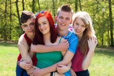 Free Teenage Group Is Very Close Stock Photography - 31058202