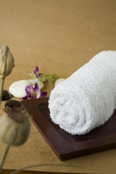 Towel For Spa Royalty Free Stock Images