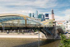 Bogdan Khmelnitsky Bridge In Moscow Royalty Free Stock Photos