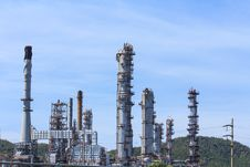 Oil Refinery In A Day Time. Royalty Free Stock Photography