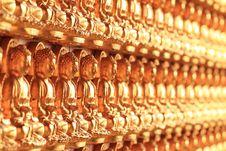 Free Wall Of Golden Buddha Stock Image - 31065111