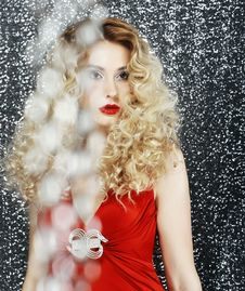 Free Allure. Glossy Stylish Woman - Glitter. Magnetism Stock Images - 31067484