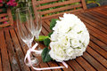Free Wedding Bridal Bouquet Of White Roses Stock Images - 31074734