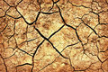Free The Cracks On The Parched Earth At The Bottom Of The Dried-up Lake Stock Image - 31076991