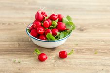 Free Bunch Of Fresh Radishes In A Bowl Stock Photo - 31070490