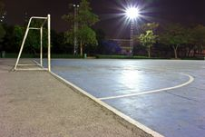 Free Goal On Stone Soccer Field Stock Images - 31078164
