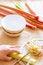 Free Preparation Of Fresh Raw Rhubarb Royalty Free Stock Photos - 31070488
