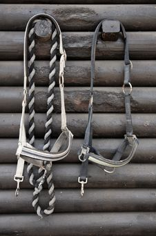 Details Of Diversity Used Horse Reins Royalty Free Stock Image