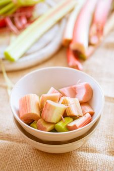 Free Fresh Raw Rhubarb Royalty Free Stock Photography - 31085007