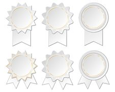 Free Six Paper Rosettes Stock Photography - 31089652