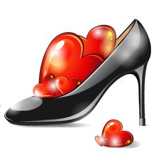 Free Shoe With Hearts Royalty Free Stock Photos - 31089658