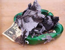Free Burning Dollar Bill Stock Photography - 31089842