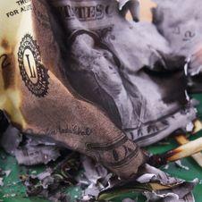 Free Burning Dollar Bill Royalty Free Stock Photos - 31089908