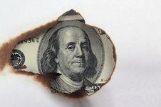 Free Burning Dollar Bill Stock Photo - 31089940