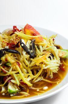 Free Payaya Salad &x28;Somtam Poo&x29; Royalty Free Stock Images - 31090809