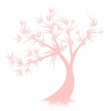 Free Art Tree Silhouette Royalty Free Stock Photos - 31094478
