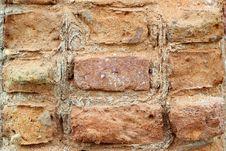 Free Old Brick Wall Royalty Free Stock Photo - 31095735