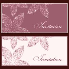 Free Invitation Set Royalty Free Stock Image - 31099356