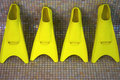 Free Four Yellow Flippers Royalty Free Stock Photography - 3115637