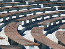 Free Empty Grandstand Royalty Free Stock Image - 3110276