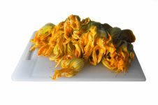 Zucchini (courgettes) Flowers Stock Image