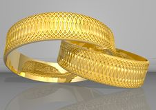 Free Golden Rings Royalty Free Stock Photography - 3112367