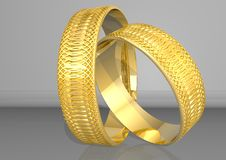 Free Golden Rings Royalty Free Stock Photo - 3112425