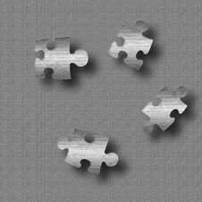 Steel Puzzle Stock Photography