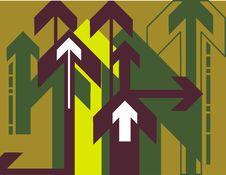 Free Arrow Background Series Royalty Free Stock Photos - 3118218
