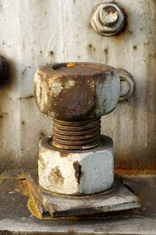 Free Rusty Bolt Royalty Free Stock Photography - 3119397
