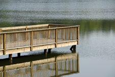 Lake Deck Stock Image