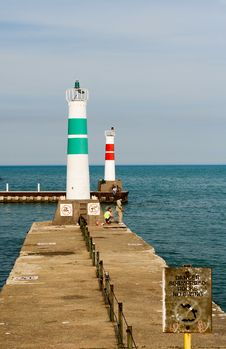 Two Lighthouses Stock Photos