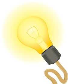 Free Glowing Light Bulb Stock Photo - 31102110