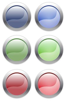 Simple Web Buttons Stock Photography