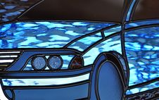 Free Abstract Stained Leadlight Glass Motorcar Vehicle Royalty Free Stock Photography - 31109307