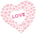 Free Heart Shapes With Love Text Royalty Free Stock Images - 31116489