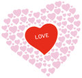 Free Heart Shapes With Love Text Royalty Free Stock Photography - 31116727