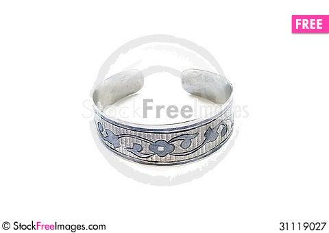 Free Silver Bracelet Royalty Free Stock Photography - 31119027