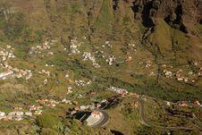 Stunning Valle Gran Rey Royalty Free Stock Photos