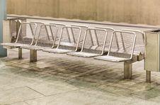 Free Metal Seats At Subway Station Royalty Free Stock Photography - 31116147