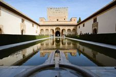 Free Court Of The Myrtles In Alhambra Stock Photo - 31117470