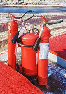 Free Fire Extinguishers. Royalty Free Stock Photo - 31118255
