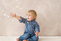 Free Kid With Soap Bubbles Royalty Free Stock Photo - 31124145