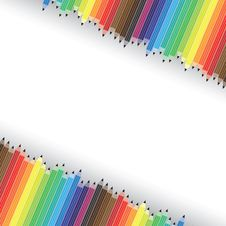 Free Colorful Pencils In Diagonal Rows On Background Royalty Free Stock Images - 31122339