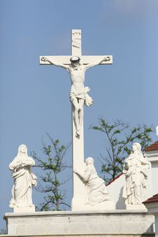 Baroque Crucification Group Royalty Free Stock Photo