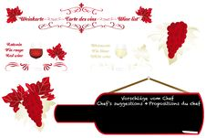 Free Calligraphic Artistic Wine Design Royalty Free Stock Photos - 31124168